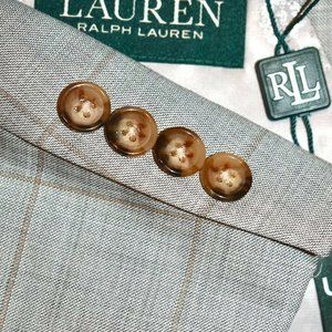 $750 NWT 48R Lauren Ralph Lauren Gray 3 PIECE SUIT